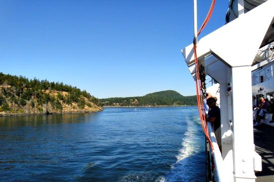 Riding Ferry to Victoria BC