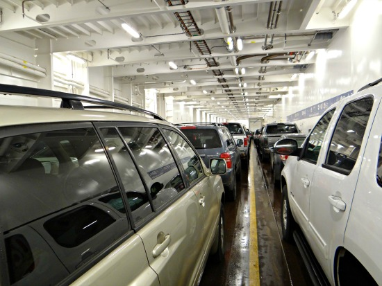 Vehicle Deck - Inside the Ferry