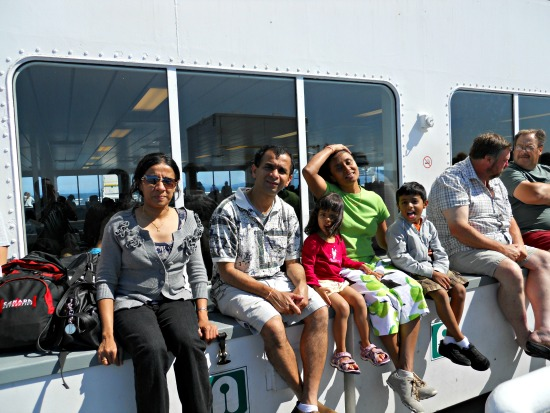 Deck Front of the Ship - Good Place to Sit on a Sunny Day ( Vancouver Victoria Ferry )