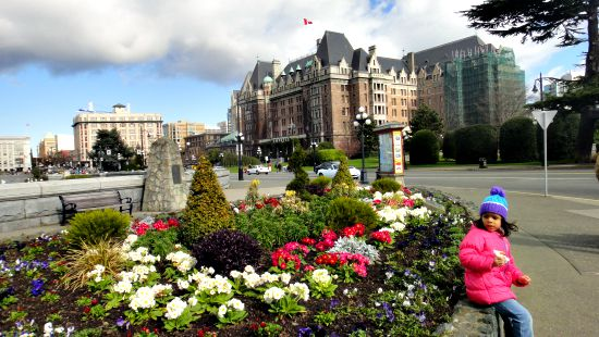 Downtown Near Empress Hotel, Victoria BC.