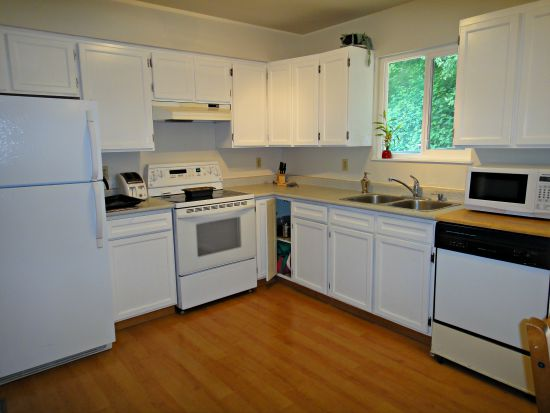 Our Victoria BC Duplex was Renovated to Rent Out. Kitchen and the pantry cupboards.