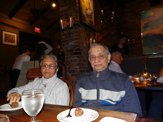 Mom and Dad at IL terrazzo restaurant downtown Victoria BC