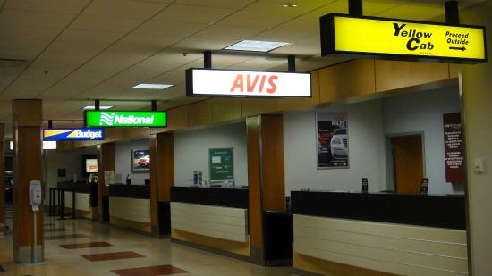 Car Rental Kiosks at Victoria Airport