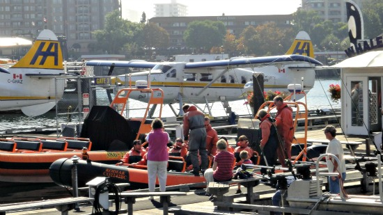 Victoria BC Tours - Getting ready for whale - watching ( Zodiac Boat )