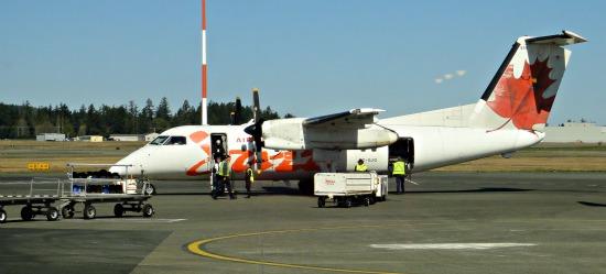 Jazz Air Canada Flight at Victoria Airport
