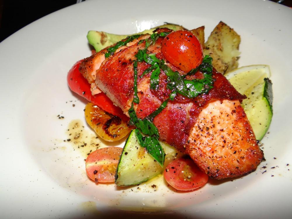 IL Terrazzo is a restaurant in Victoria BC that serves a delicious Salmon al Forno dish