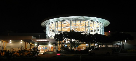 victoria Airport at night