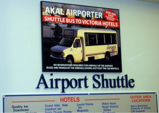Akal Airporter Counter is Near the Domestic Baggage Pickup Area at Victoria Airport